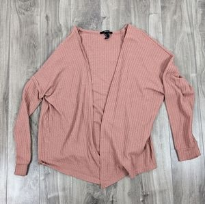 Forever 21 Dusty Pink Open Front Cardigan Size Small